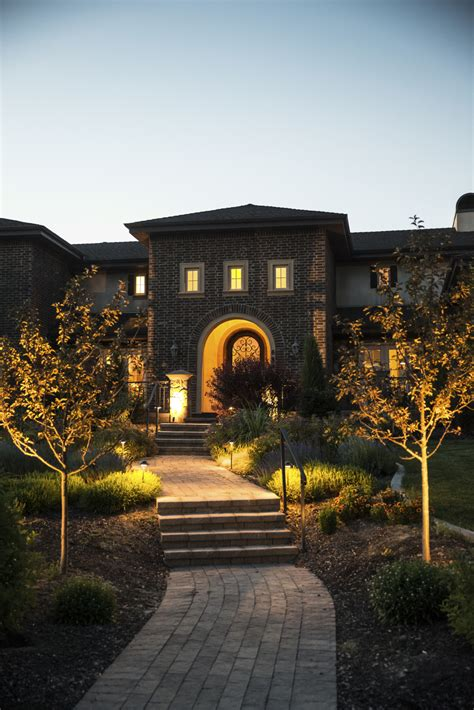 outdoor lighting home entrance landscaping virginia
