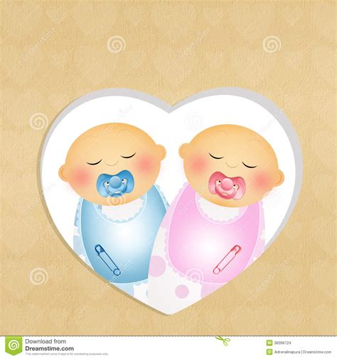 Twin Babies with Pacifiers