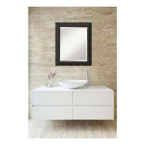Home Depot Bathroom Vanity Mirrors by Amanti Signore Bronze Wood 21 In W X 25 In H