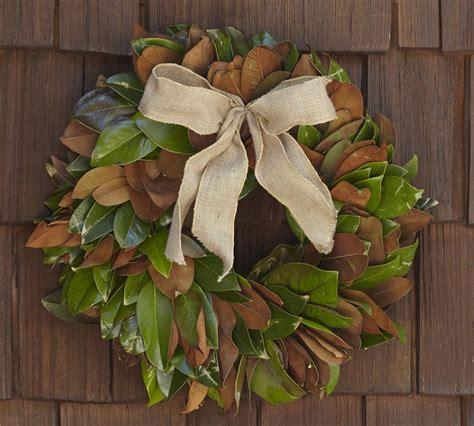 pottery barn wreath pottery barn knock magnolia wreath the happier homemaker