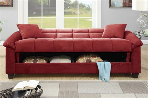 microfiber futon sofa bed red microfiber storage futon sofa bed