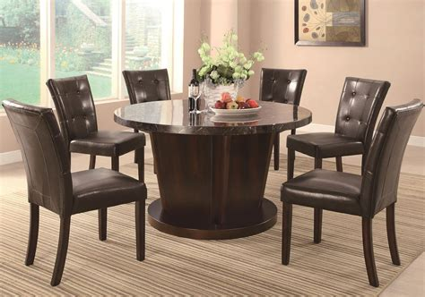 marble and wood dining table milton cappuccino wood and marble dining table set steal