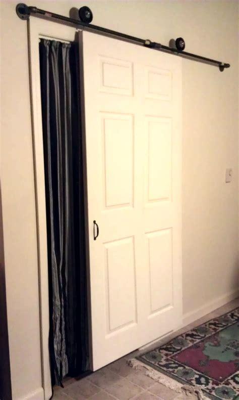 homemade barn door style interior door