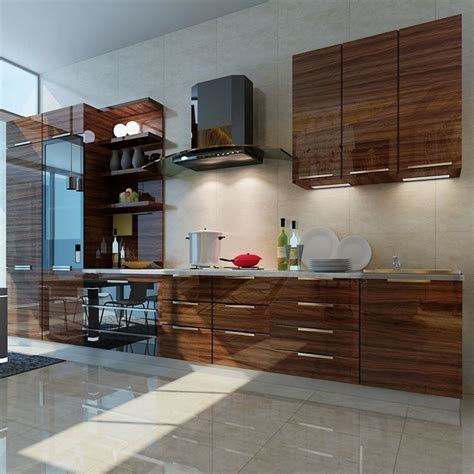 China Wood Grain High Gloss Acrylic MDF Panel for Kitchen