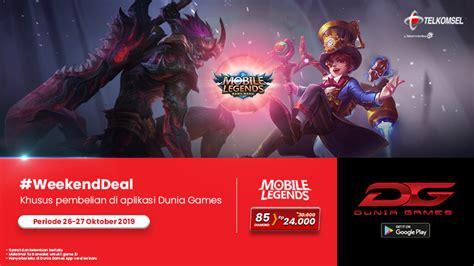 yuk jajan voucher game  weekend deal dunia games