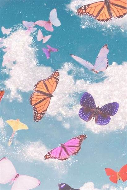 Iphone Aesthetic Butterfly Backgrounds Background Sky Wallpapers