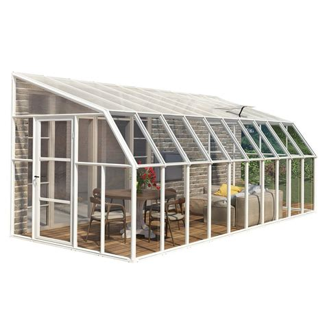 greenhouse sunroom rion sun room 8 ft x 20 ft clear greenhouse 702147 the