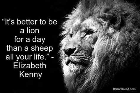 Lion Sheep Motivational Quotes