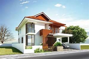 Glamorous Modern House Exterior Front Designs Ideas With Balcony Carport Facade House Design