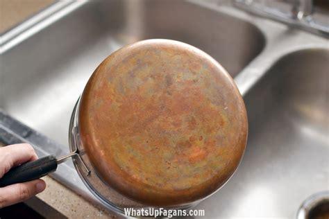 clean  copper pot  ketchup