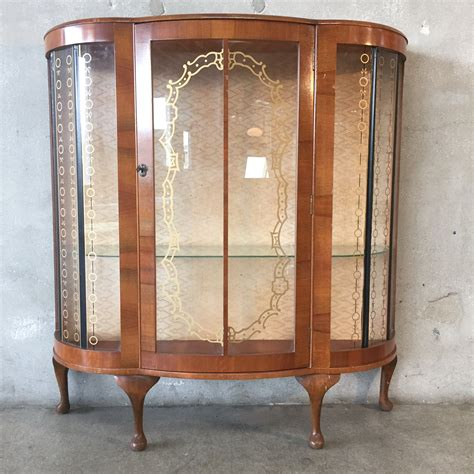 glass curio cabinet curved glass curio cabinet cabinets matttroy