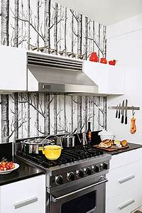 wallpaper kitchen backsplash contemporary kitchen With kitchen cabinets lowes with where the wild things are wall art