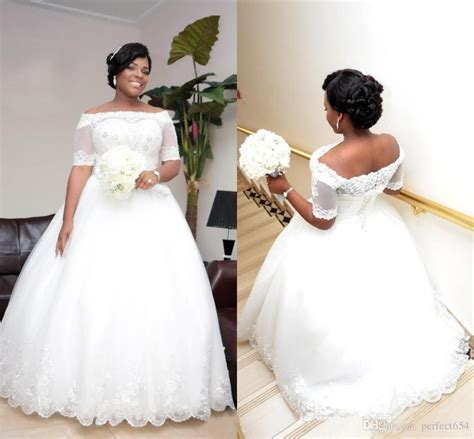 2017 Vintage Beaded Lace Plus Size African Wedding Dresses