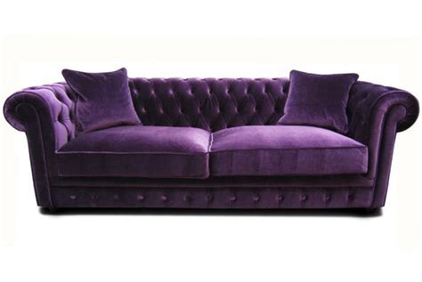 canape en velour canapé chesterfield en velours claridge design sur sofactory