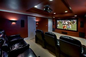 Living room movie theater home theater contemporary with ...