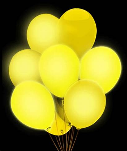 Balloons Yellow Led Orange Glow Sticks Stick