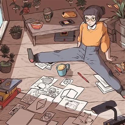 Aesthetic Hoe Anime Gifs Animated Animation Illustration
