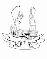 Coloring Fisherman Fishermen Boat Pages Fishing Man Printable Clipart Clip Cartoon Print Popular Labor Library Books Line Categories Similar sketch template