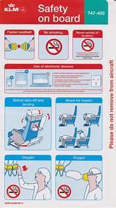 Safety Card Klm B747