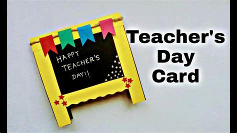 teachers day card idea handmade greeting card