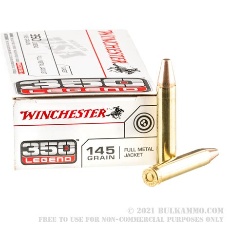 200 Rounds Of Bulk 350 Legend Ammo By Winchester 145gr Fmj