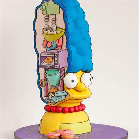 Image Of Ice Cream Just Look At This Marge Simpson Cake Foodiggity