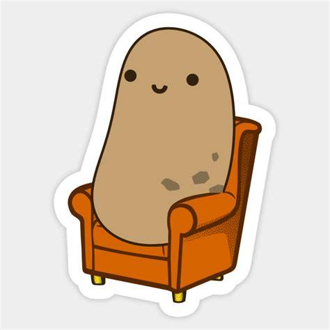 Cute Couch Potato  Couch Potato  Sticker Teepublic