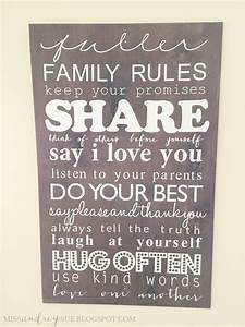 diy family rules board miss audrey sue With kitchen cabinets lowes with our family rules wall art