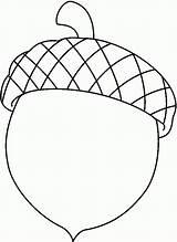 Coloring Pages Acorn Acorns Popular sketch template