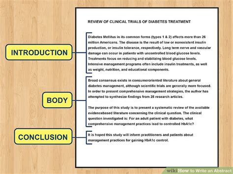 Article Template Ingles by How To Write An Abstract With Exles Wikihow