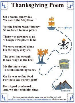 thanksgiving poems  kids