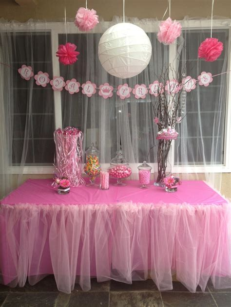 baby shower themes girl princess theme baby shower royal treats table party