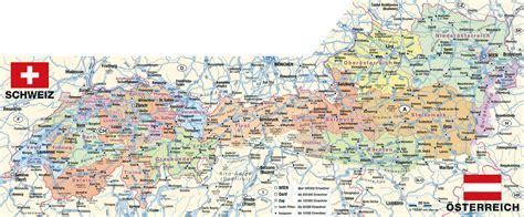 karte von alpen politisch region  schweiz oesterreich