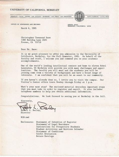 application letter sle cover letter sle uc berkeley