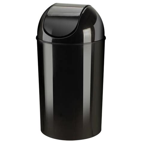 kitchen trash can with lid umbra kitchen swing top trash can black in kitchen trash