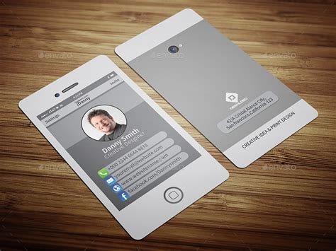 Stylish Smartphone Business Card-2 By Cristal_p Notary Business Card Sample Cfa Rules Visiting For Grocery Shop Scanner App Ipad Nys Real Estate Requirements Florida Standard Card/credit Size In Cm