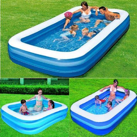 pool aufblasbar rechteckig bestway family lounge rectangular paddling swimming garden swim pool ebay