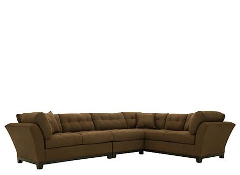Metropolis 3pc Sectional Sofa by Metropolis 3 Pc Microfiber Sectional Sofa
