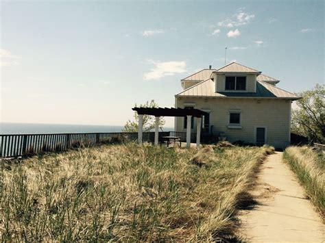Panorâmica Casa Do Lago Michigan E Praia Privada....
