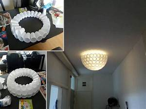 DIY Project: Homemade Plastic Cup Lamp Home Design