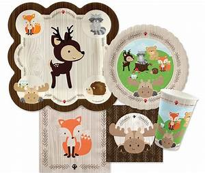 We love this woodland animals baby shower theme and after ...