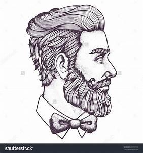 Drawn men beard drawing - Pencil and in color drawn men ...