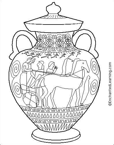 greek amphora coloring page enchantedlearningcom