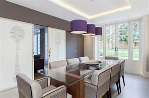 decoration de salle a manger elegante en violet With decoration salle a manger contemporaine
