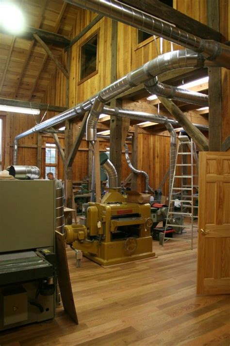 bank barn conversion  woodworking studio