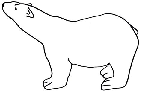 polar template hibernation challenge on print profile drawing and clipart best clipart