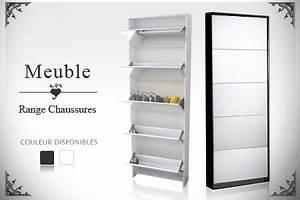 Meuble Chaussure 40 Paires : meuble chaussures miroir pas cher ~ Teatrodelosmanantiales.com Idées de Décoration