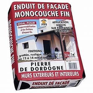 Enduit De Facade Prix : enduit monocouche ton pierre prb 25 kg leroy merlin ~ Edinachiropracticcenter.com Idées de Décoration
