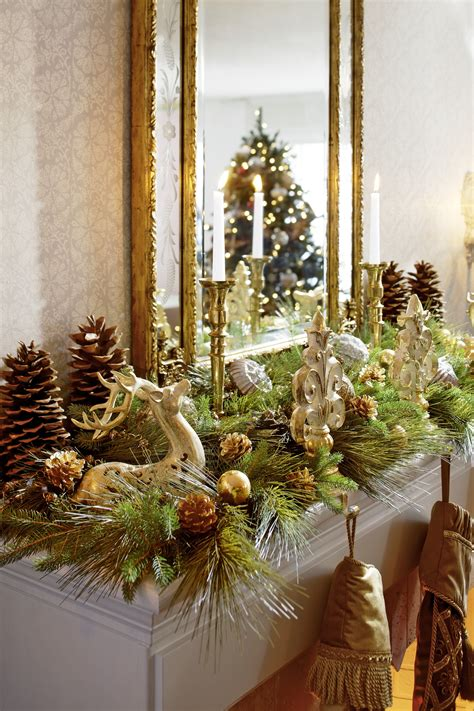 decorating a mantel for christmas decorating holiday mantels traditional home