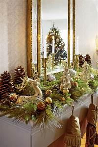 mantel christmas decorations Decorating: Holiday Mantels | Traditional Home